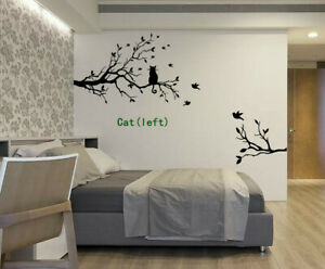 Cat Sitting On Tree Birds Branches Quotes Wall Art Bedroom Sticker Decal Uk 61 Ebay,Childrens Bedroom Kids Bedroom Furniture Sets