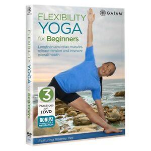 flexibility yoga for beginners dvd rodney yee 3 workouts