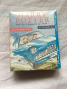 Harry-Potter-The-Chamber-Of-Secrets-Audio-Book-Cassette-Tape-read-by-Stephen-Fry