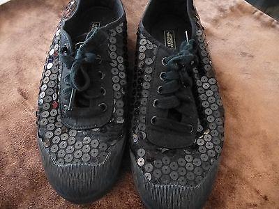 Damen Schuhe, GR.40, schwarz mit Pailletten.