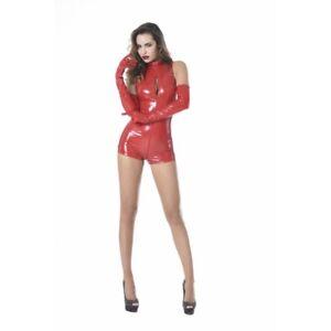 Patrice-Catanzaro-Sweety-Bodysuit-combishort-sexy-fetish-en-vinyle-rouge