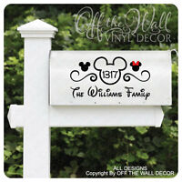 Disney mickey Mouse Vinyl Mailbox Lettering Decoration Decal Sticker