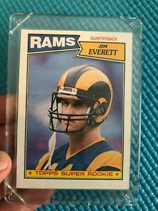 1987 Topps Jim Everett super rookie card - near mint extremely good condition