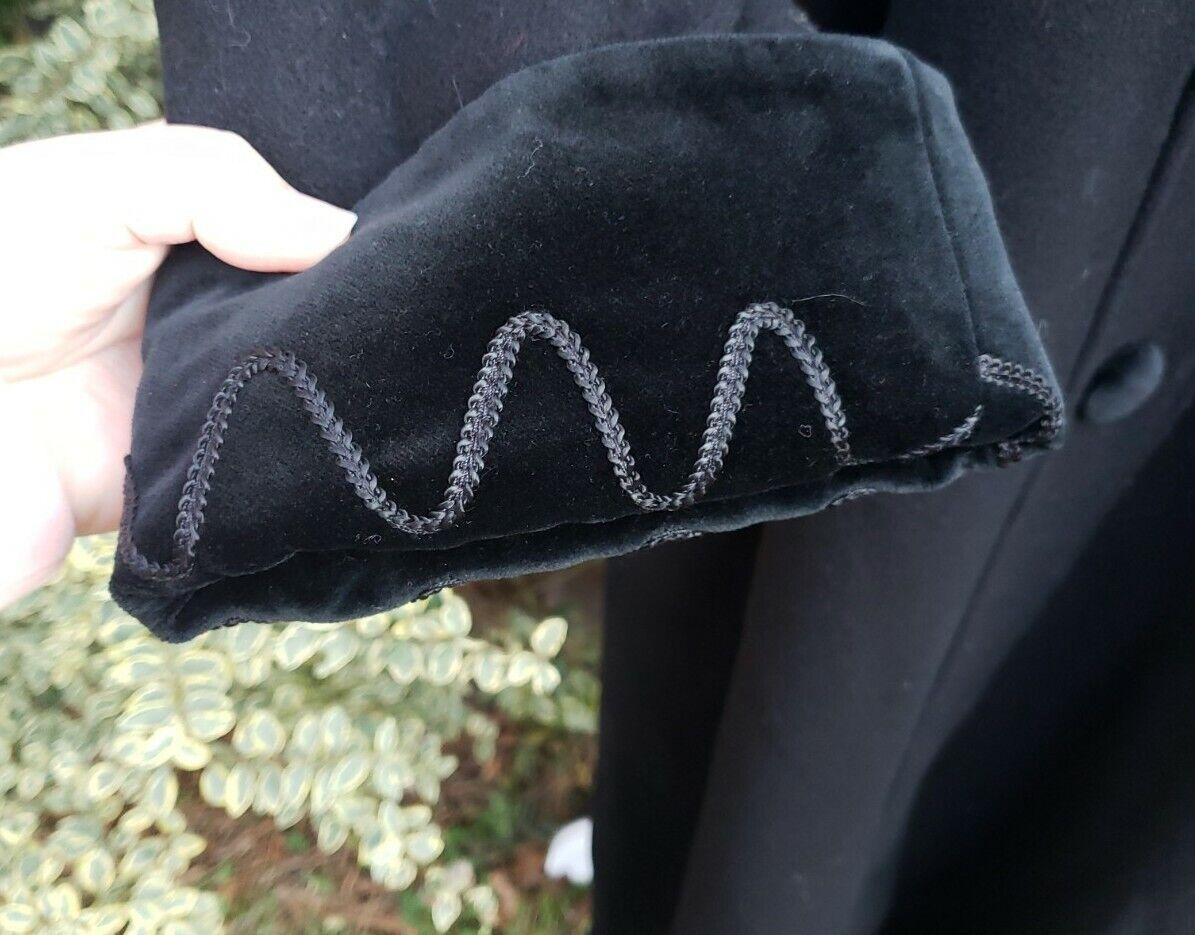 Vtg Donnybrook Black Velvet Embroidery Edwardian … - image 4