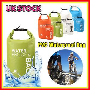 5PCS Waterproof Dry Bag Sack Canoe Kayak Cycling Camping Hiking Fishing Sailing
