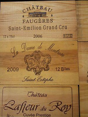 PACK OF 10 WOODEN WINE BOX CASE CRATE END PANELS WALL PLAQUE MINI / HOME PUB BAR