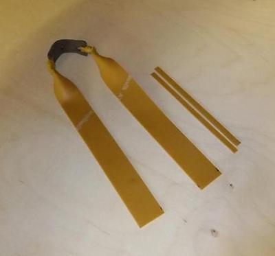 Slingshot Target Bands.  Single Theraband Gold 25mm Wide.  catapult elastic