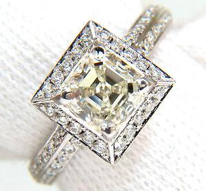 2-20CT-Asscher-Anillo-Diamante-Corte-Halo-Cuchillo-Edge-14kt