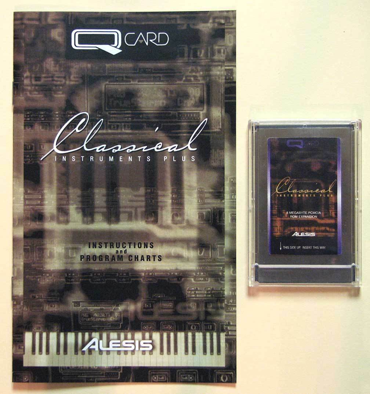 Alesis Classical Instruments Plus QCard w Docs, LIFETIME Warranty QSR 2Slot Card