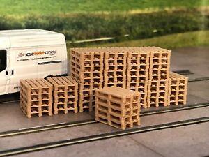 3D-PRINTED-REAL-WOODEN-PALLET-STACKS-OO-GAUGE-1-76-SCALE-MODEL-RAILWAY-AX065-OO