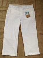 Womens Columbia White Crop Capri Pants Size8 Sxs