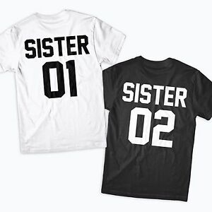 Sisters Shirts Matching Family Best Friends BFF's Besties ...