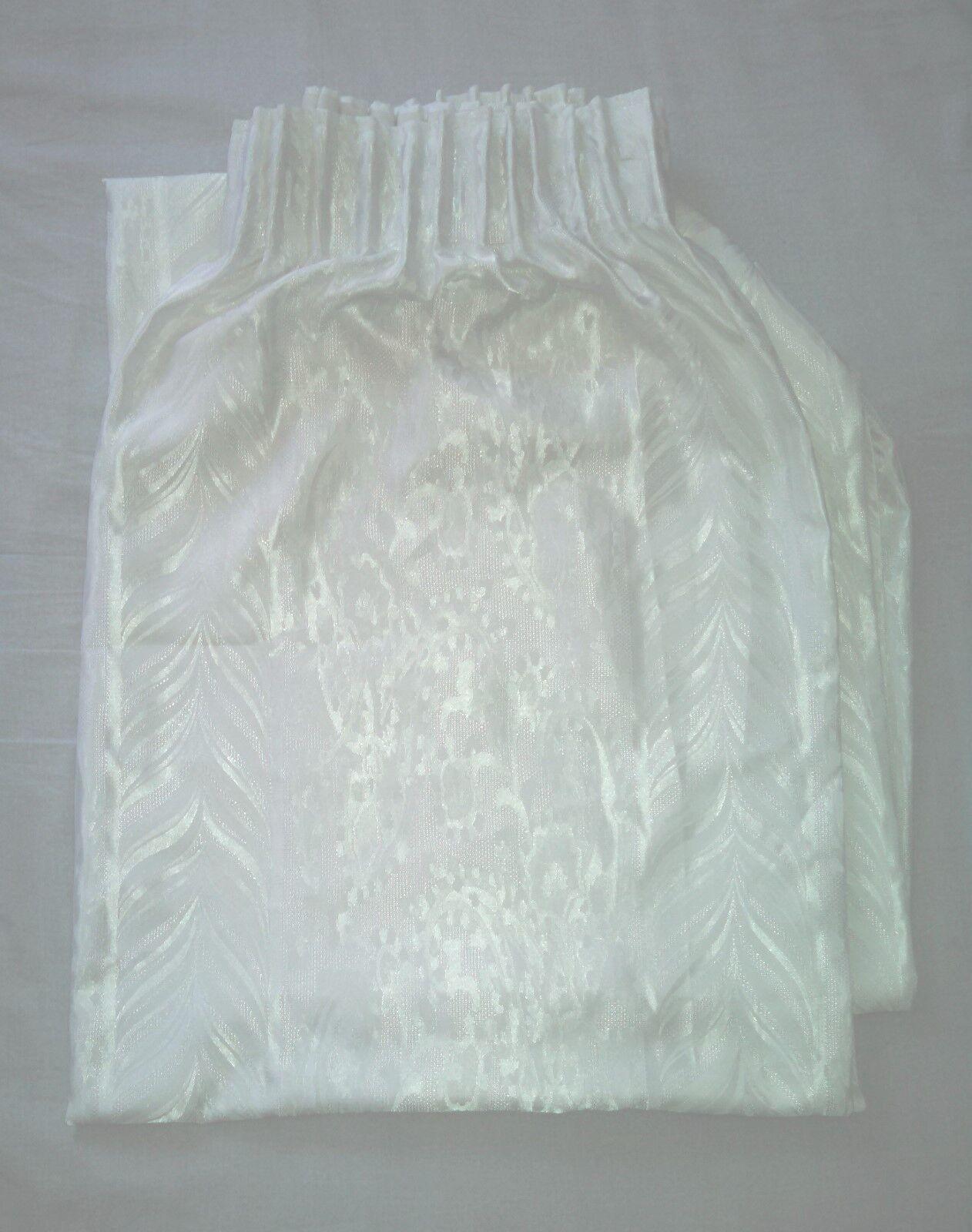 Tenda con trama bianco lucido seta  2,20 x 2 metri