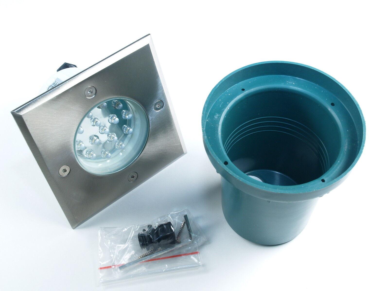 230V LED Bodenbeleuchtung Gordo rund   eckig für Terrasse Bodenleuchten Garten