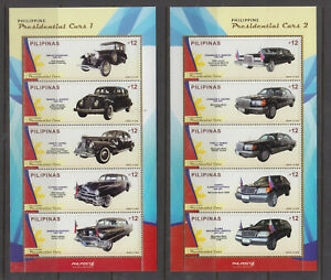 Philippine Stamps 2018 Presidential Cars Complete Sheetlet set MNH