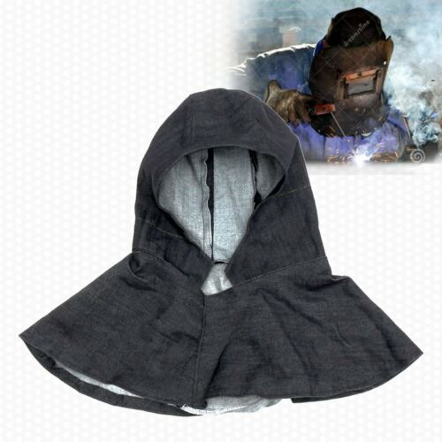 Heavy Duty Denim Flame Torching Retardant Protective Welder Welding Hood Cover