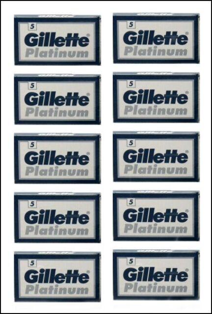 Gillette Platinum 50 Double Edge Razor Blades Russian Razor Blades