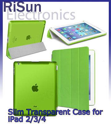 For iPad 2 3 4 Screen Protector/Ultra Slim Magnetic Smart Matte transparent Case