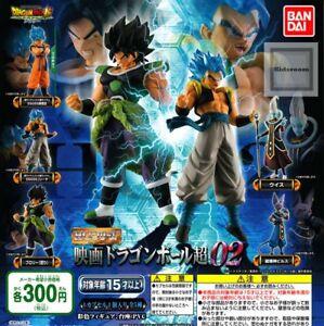 F Bandai Dragonball Film Super Broly Hg Partie 2 02 Gashapon Ensemble Complet De 5pcs