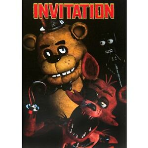 Details About FIVE NIGHTS AT FREDDYS INVITATIONS 8 Birthday Party Supplies Invites Notes