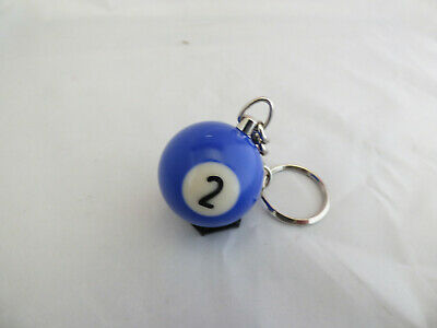 dia 32 mm Portachiavi porta chiave palla pallina biliardo bigliardo Blu n° 2