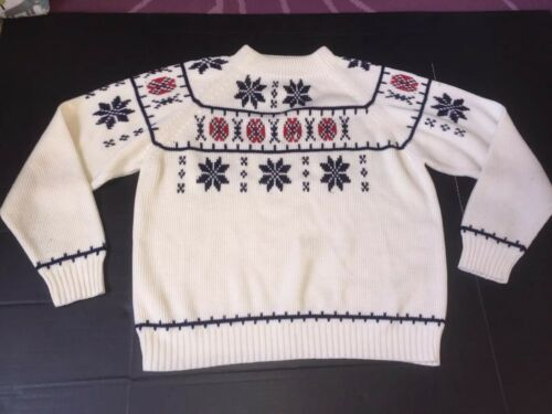 JC Penney Vintage Sweater Rare ⛷ Skiing