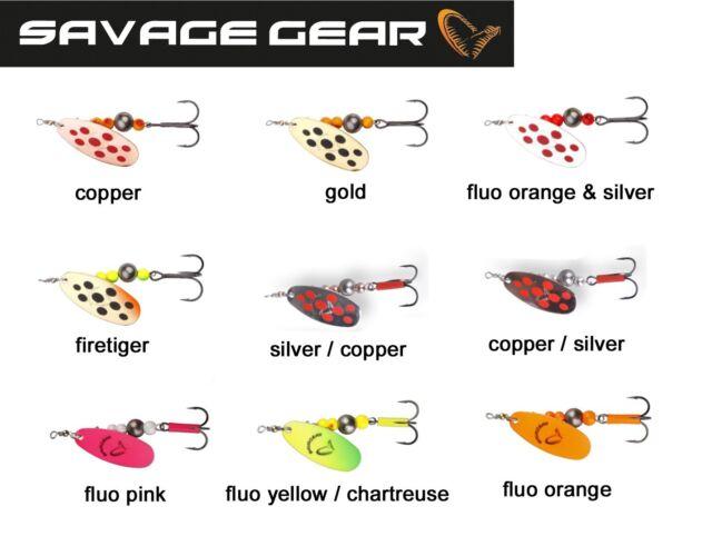 Savage Gear Rotex Spinner Set 6g 8g 10 Köder zum Raubfischangeln
