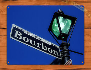 Tin Sign Bourbon Street New Orleans Street Sign Photo Wall Decor