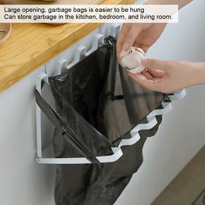 Kitchen Hanging Trash Rubbish Bag Holder Garbage Storage Rack Cupboard Hanger YU