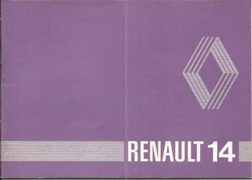 RENAULT R 14 manuale di istruzioni 1981 MANUALE MANUALE MANUALE r14 BA