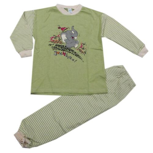 Maier Lingerie de nuit pyjama long 2 pièces pyjama enfants vert coton taille 116