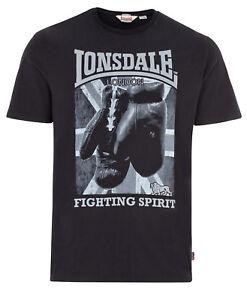 Lonsdale-Boxing-Fighting-Spirit-Premium-Black-Regular-Fit-T-Shirt-100-Cotton