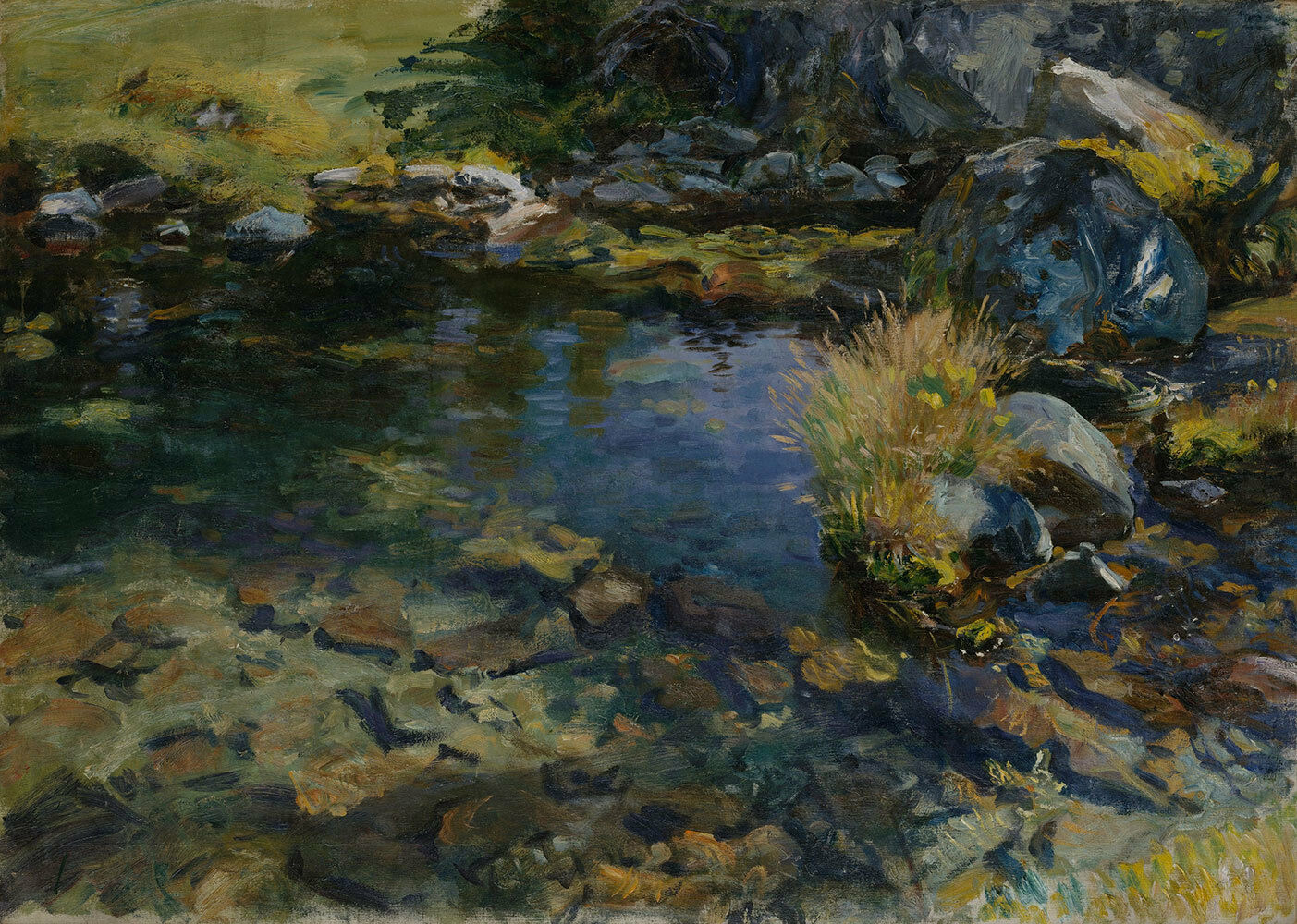 John Singer SSilber    Alpine Pool  (1907) — Giclee Fine Art Print