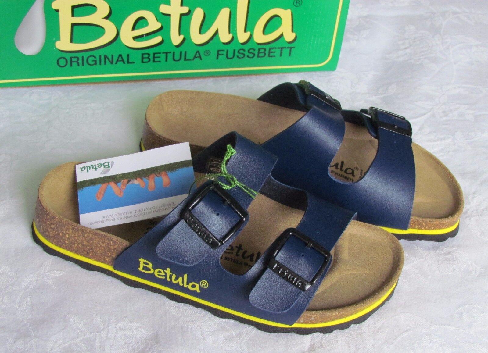 Último gran descuento NEW Betula By Birkenstock Arizona Ladies Blue Yellow Mules Sandals Size 3.5 36