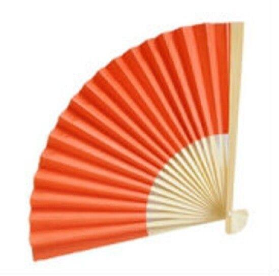 100 Orange papier fans Outdoor Mariage faveurs