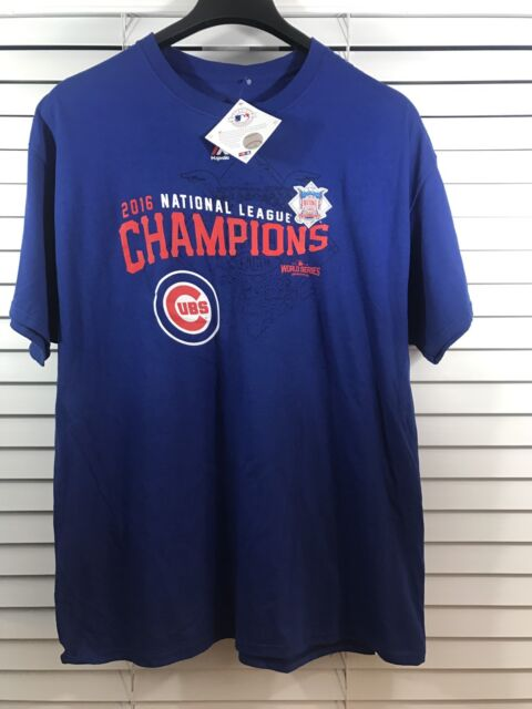 Majestic Chicago Cubs 2016 World Series Champions Roster T-Shirt Mens SZ  Small b521fd8bd
