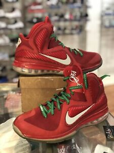 Christmas Lebron 9s.Details About Mens Nike Air Lebron 9 Ix Red Green Christmas 469764 602 Size 12