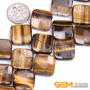 16mm-Natural-Assorted-Stone-Square-Diagonal-Beads-For-Jewelry-Making-Strand-15-034
