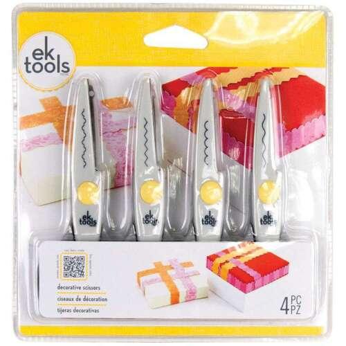 """Wave Scallop /& Zigzag 015586945126 Decorative Scissors 5.5/"""" 4//Pkg Deckle"""