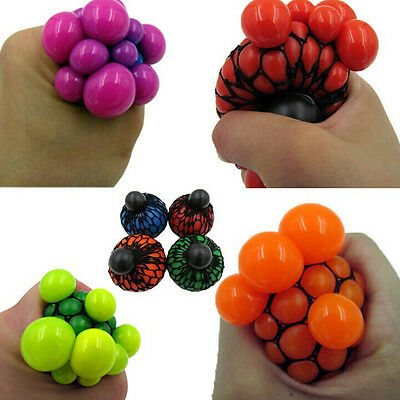 Anti Stress Ball Adhd Reliever Autism Moody Fidget Grape Kugel Squeeze Spielzeug