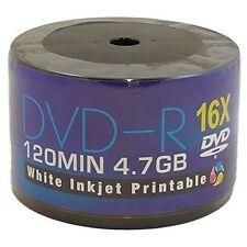 50 x AONE DVD-R Stampabile A Getto D'inchiostro bianco 4.7gb (16x) 120min (continuo)