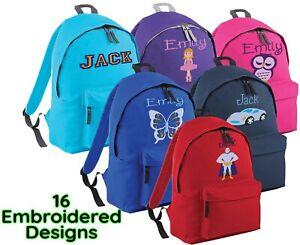 Personalised School Bag ,Embroidered Junior Rucksack, Backpack,  Schoolbag