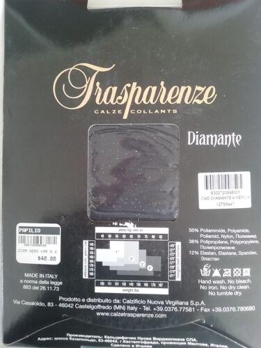 Xl Trasparenze Shiny Collant nero Golden Diamante Collant PSXxqOw