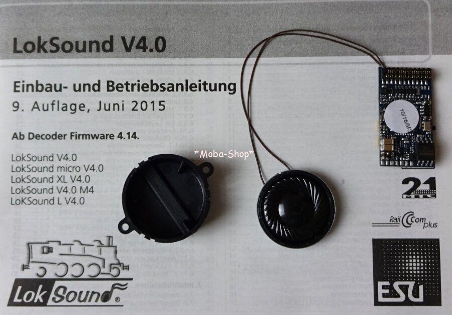 ESU 54499  544xx  LokSound v4 decoder DCC + mm 32 Mbit, 21-pol. presa, MTC  60098