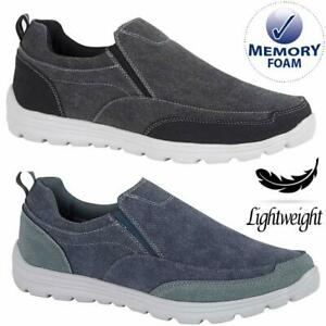 Mens-Casual-Slip-On-Lightweight-Memory-Foam-Walking-Deck-Boat-Driving-Shoes