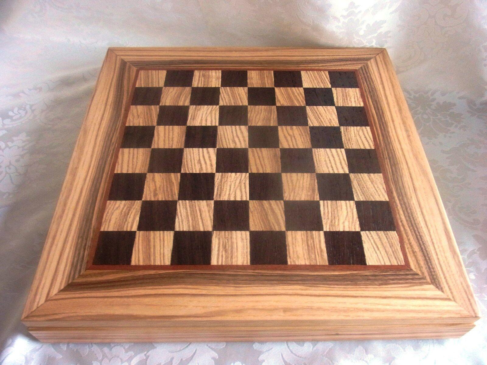 Luxus Olivenholz Schachspiel Schachbrett Manopoulos Figuren Handarbeit