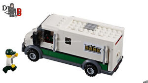 Lego City Cargo Train 60198 Armoured Bank Truck No Box No Powered