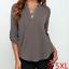 Summer-Women-Loose-V-Neck-Chiffon-Long-Sleeve-T-Shirt-Blouse-Casual-Collar-Tops thumbnail 4