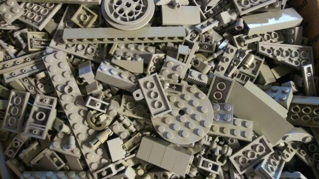 LIGHT GRAY LEGO 5LB ASSORTED LOT
