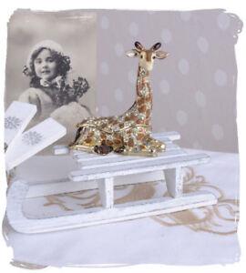 Genossenschaft Schmuckdose Tabatiere Pillendose Giraffe Tierfigur Metalldose
